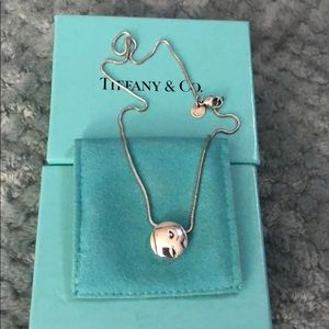 "Tiffany & Co. Round Initial ""R"" Necklace"